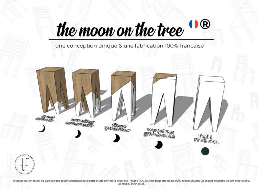 """THE MOON ON THE TREE, collection """"made in France"""" de tabourets originaux"""