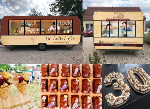 Food trailer Sucré by Un Grain Sucré
