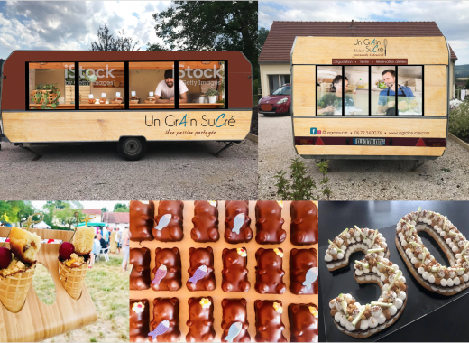 Food trailer Sucré by Un Grain Sucré