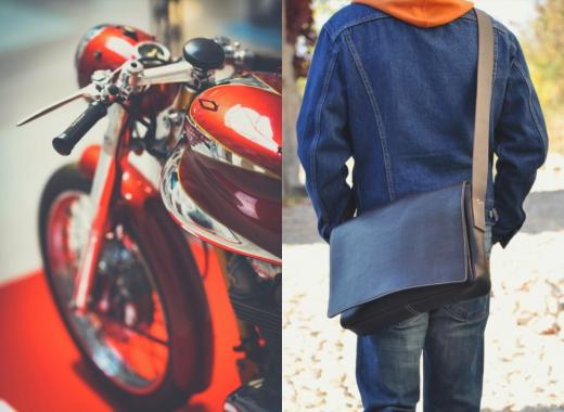 Rétro & Gazoline : des accessoires en cuir pour tailler la route !