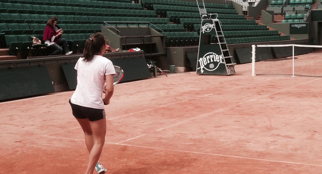 Pauline Dore, championne de France de tennis
