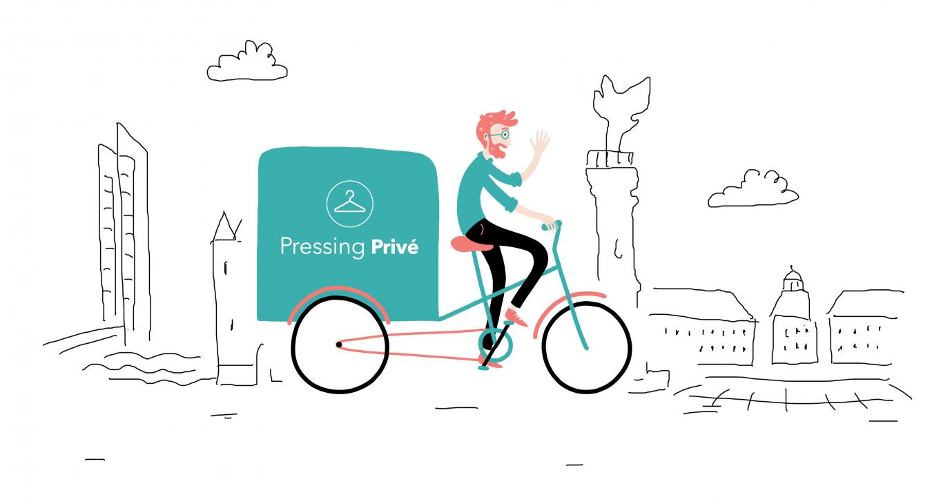 Vélos triporteurs électrique - Pressing Privé à domicile !