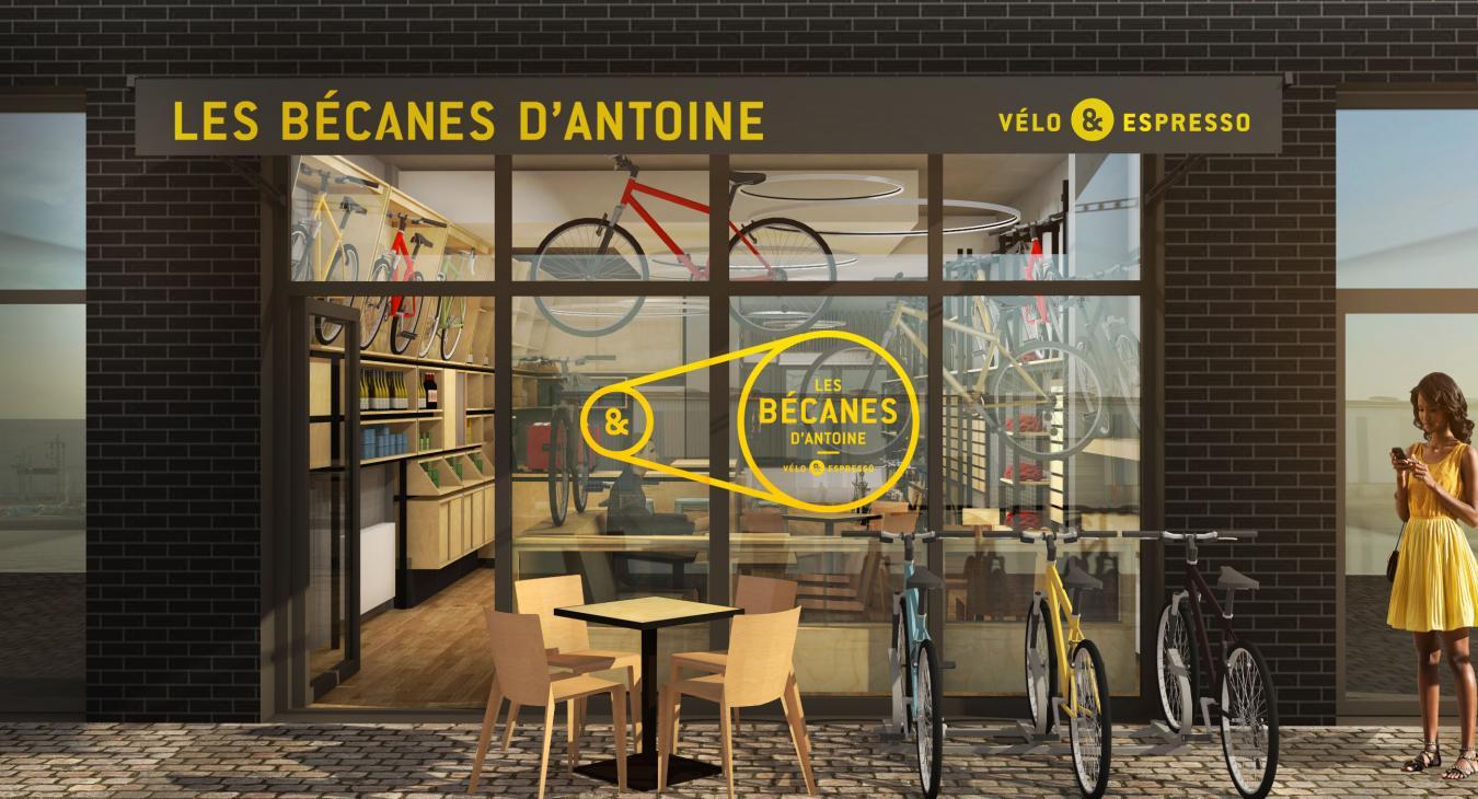 Une machine à café pour Les Becanes d'Antoine à Pantin