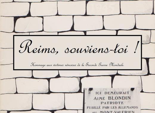 """Livre-hommage """"Reims, souviens-toi !"""""""