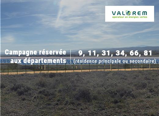 Centrale solaire Valorem à Alzonne