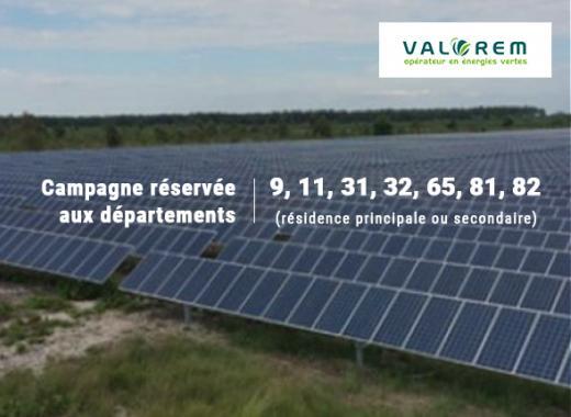 Centrale solaire Valorem à Noé