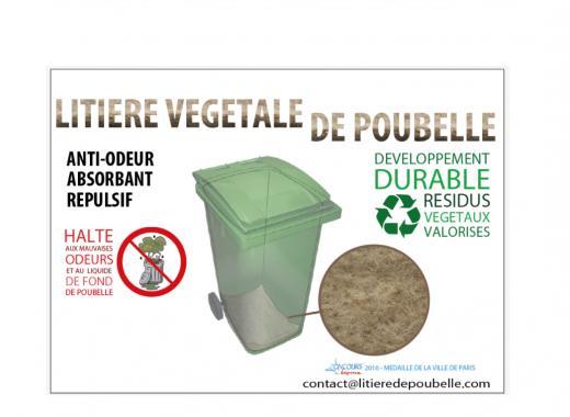 Litière végétale de poubelle