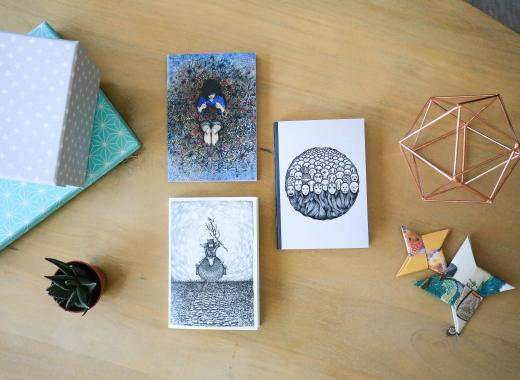 Carnets A5 recyclés // Ita Duclair Illustration