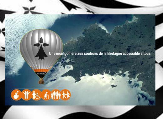 Une montgolfière aux couleurs de la Bretagne